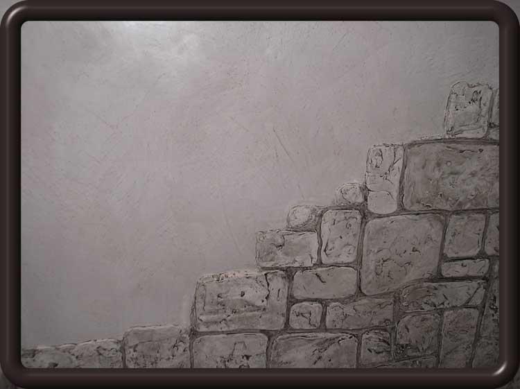 Декоративный камень из шпаклевки своими руками